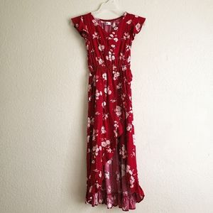 Epic Threads Girls Floral Red Dress Size Small New